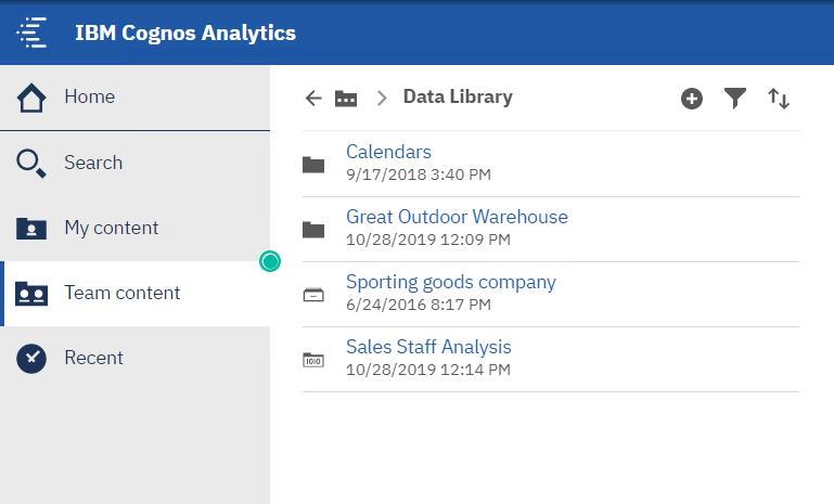 Organize cognos data sources into a single data library for easy access