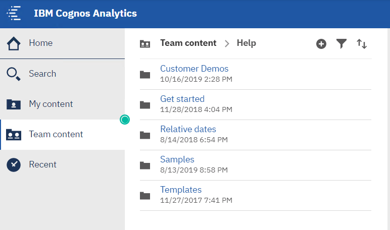 organize cognos help in one place to make it easy to find