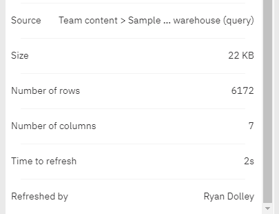 The Advanced Properties view contains the statistics you need to manage Data Set performance.