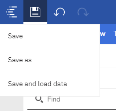 Data Set save options include Save, Save As and Save and Load Data