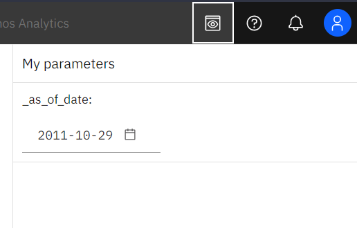 The as-of-date global parameter allows users to easily select the target date for relative date analysis